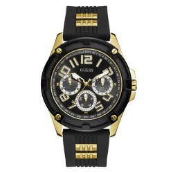 Guess Heren Horloge zwart double gw0051G2 - 59725